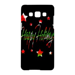 Happy Holidays 2  Samsung Galaxy A5 Hardshell Case  by Valentinaart