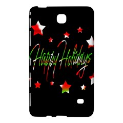 Happy Holidays 2  Samsung Galaxy Tab 4 (8 ) Hardshell Case  by Valentinaart