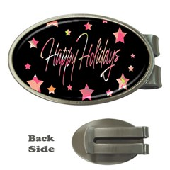Happy Holidays 3 Money Clips (oval)  by Valentinaart