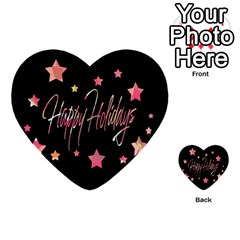Happy Holidays 3 Multi Purpose Cards (heart)  by Valentinaart
