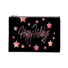 Happy Holidays 3 Cosmetic Bag (large)  by Valentinaart