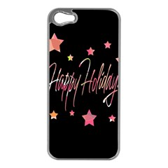 Happy Holidays 3 Apple Iphone 5 Case (silver) by Valentinaart