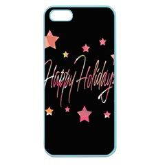 Happy Holidays 3 Apple Seamless Iphone 5 Case (color) by Valentinaart