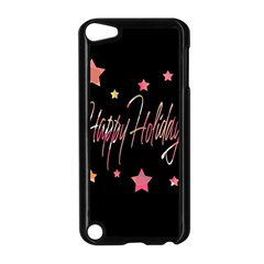 Happy Holidays 3 Apple Ipod Touch 5 Case (black) by Valentinaart