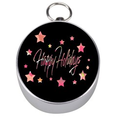 Happy Holidays 3 Silver Compasses by Valentinaart