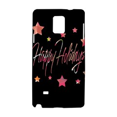 Happy Holidays 3 Samsung Galaxy Note 4 Hardshell Case by Valentinaart
