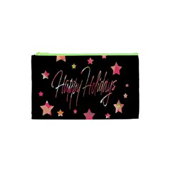 Happy Holidays 3 Cosmetic Bag (xs) by Valentinaart