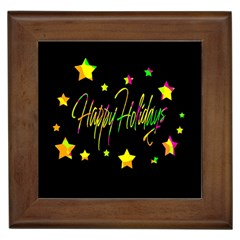 Happy Holidays 4 Framed Tiles by Valentinaart