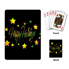 Happy Holidays 4 Playing Card by Valentinaart