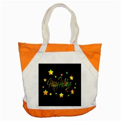 Happy Holidays 4 Accent Tote Bag by Valentinaart