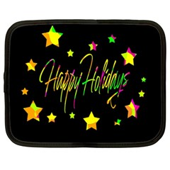 Happy Holidays 4 Netbook Case (xxl)  by Valentinaart