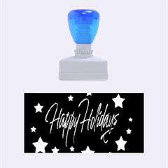 Happy Holidays 4 Rubber Stamps (medium)