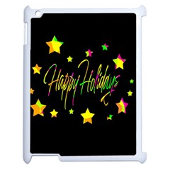 Happy Holidays 4 Apple Ipad 2 Case (white) by Valentinaart