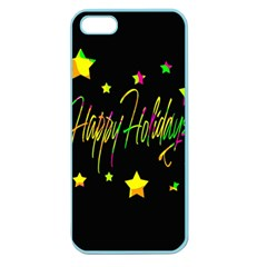 Happy Holidays 4 Apple Seamless Iphone 5 Case (color) by Valentinaart