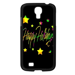 Happy Holidays 4 Samsung Galaxy S4 I9500/ I9505 Case (black) by Valentinaart