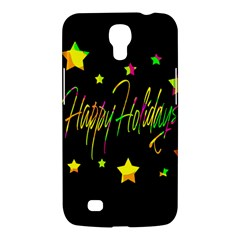 Happy Holidays 4 Samsung Galaxy Mega 6 3  I9200 Hardshell Case by Valentinaart