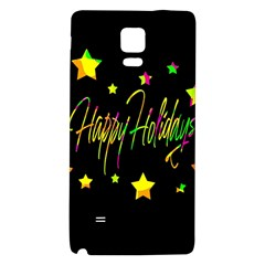 Happy Holidays 4 Galaxy Note 4 Back Case