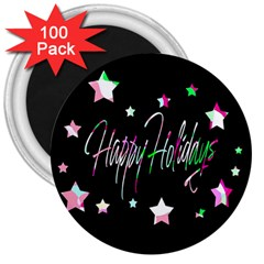 Happy Holidays 5 3  Magnets (100 Pack) by Valentinaart