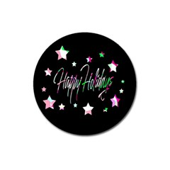Happy Holidays 5 Magnet 3  (round)