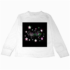 Happy Holidays 5 Kids Long Sleeve T-shirts by Valentinaart
