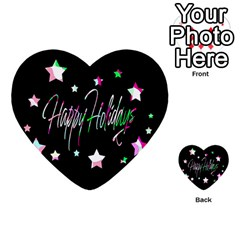 Happy Holidays 5 Multi Purpose Cards (heart)  by Valentinaart