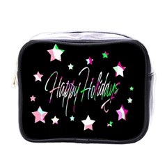 Happy Holidays 5 Mini Toiletries Bags by Valentinaart