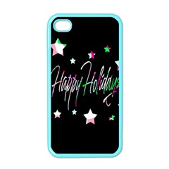 Happy Holidays 5 Apple Iphone 4 Case (color) by Valentinaart