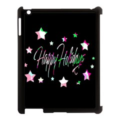 Happy Holidays 5 Apple Ipad 3/4 Case (black) by Valentinaart