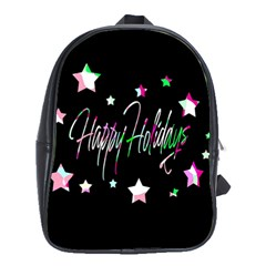 Happy Holidays 5 School Bags (xl)  by Valentinaart