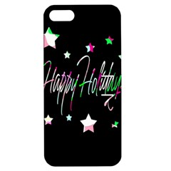 Happy Holidays 5 Apple Iphone 5 Hardshell Case With Stand by Valentinaart