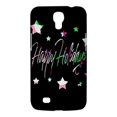 Happy Holidays 5 Samsung Galaxy Mega 6 3  I9200 Hardshell Case by Valentinaart