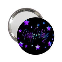 Happy Holidays 6 2 25  Handbag Mirrors by Valentinaart