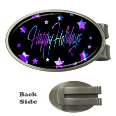 Happy Holidays 6 Money Clips (oval)  by Valentinaart