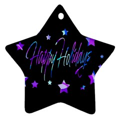 Happy Holidays 6 Star Ornament (two Sides)  by Valentinaart