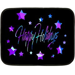 Happy Holidays 6 Double Sided Fleece Blanket (mini)  by Valentinaart