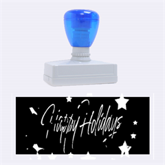 Happy Holidays 6 Rubber Stamps (large) by Valentinaart