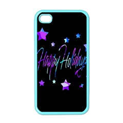 Happy Holidays 6 Apple Iphone 4 Case (color) by Valentinaart