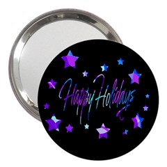 Happy Holidays 6 3  Handbag Mirrors by Valentinaart