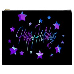 Happy Holidays 6 Cosmetic Bag (xxxl)  by Valentinaart