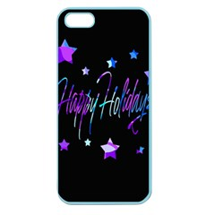 Happy Holidays 6 Apple Seamless Iphone 5 Case (color) by Valentinaart