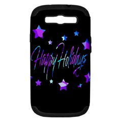 Happy Holidays 6 Samsung Galaxy S Iii Hardshell Case (pc+silicone) by Valentinaart