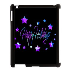 Happy Holidays 6 Apple Ipad 3/4 Case (black) by Valentinaart