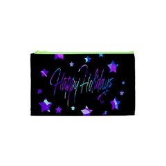 Happy Holidays 6 Cosmetic Bag (xs) by Valentinaart