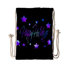 Happy Holidays 6 Drawstring Bag (small) by Valentinaart