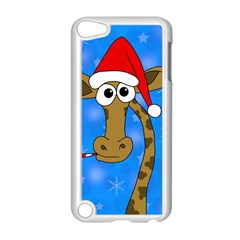 Xmas Giraffe   Blue Apple Ipod Touch 5 Case (white) by Valentinaart