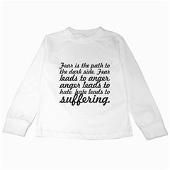 Fear Is The Path   Kids Long Sleeve T Shirt by awesomegraphics