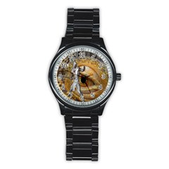 Dragon Slayer Stainless Steel Round Watch by icarusismartdesigns