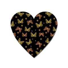 Insects Motif Pattern Heart Magnet by dflcprints