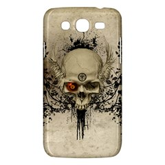 Awesome Skull With Flowers And Grunge Samsung Galaxy Mega 5 8 I9152 Hardshell Case  by FantasyWorld7