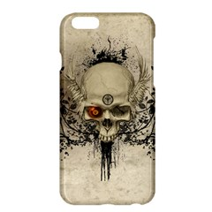 Awesome Skull With Flowers And Grunge Apple Iphone 6 Plus/6s Plus Hardshell Case by FantasyWorld7